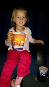 Ava at the movies